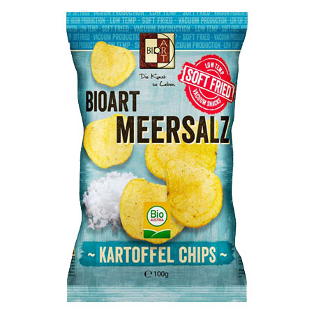 BioArt Soft-Fried Kartoffelchips Meersalz 100g