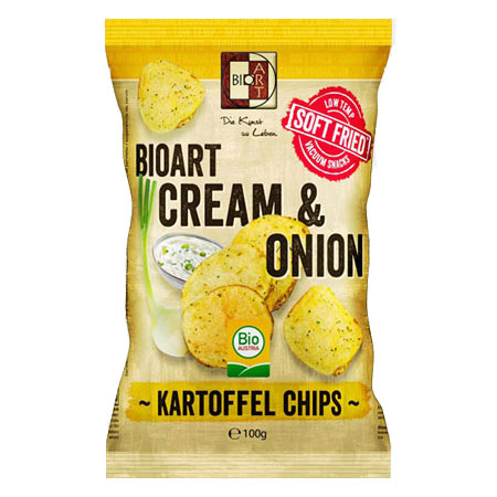 BioArt Soft-Fried Kartoffelchips Cream & Onion 100g