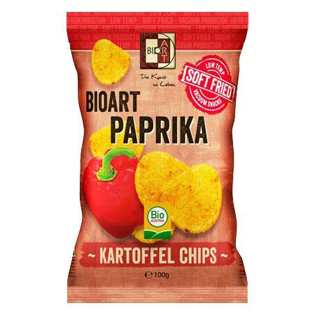 BioArt Soft-Fried Kartoffelchips Paprika 100g