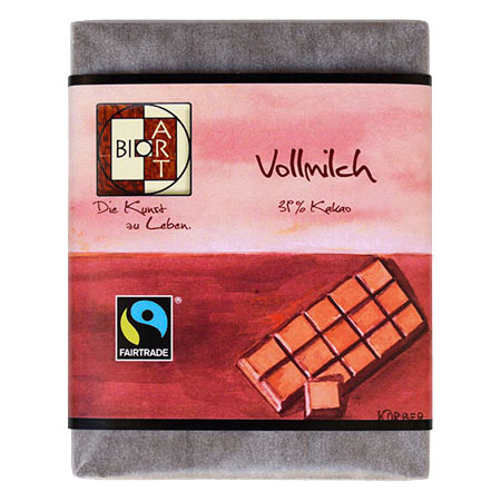 BioArt Schoko Vollmilch 70g /FairTrade