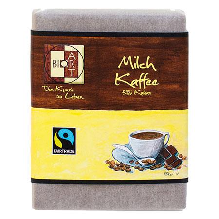 BioArt Schoko Milch Kaffee 70g /FairTrade