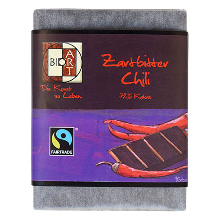 BioArt Schoko Zartbitter Chili 70g /FairTrade