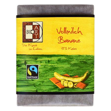 BioArt Schoko Vollmilch Banane 70g / FairTrade
