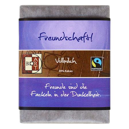 BioArt Motto Schoko Freundschaft Vollmilch 70g, Fairtrade