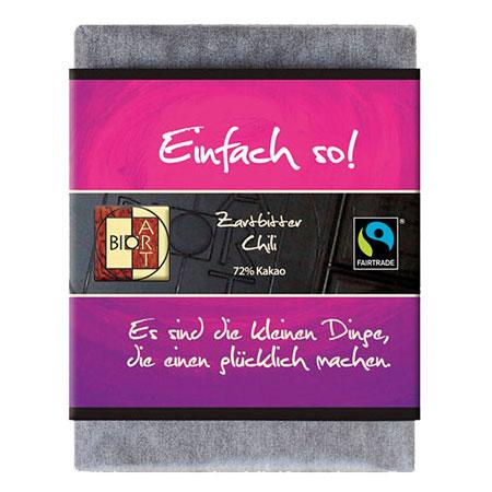 BioArt Motto Schoko Ich hab dich gern Weiße Crisp 70g, Fairtrade
