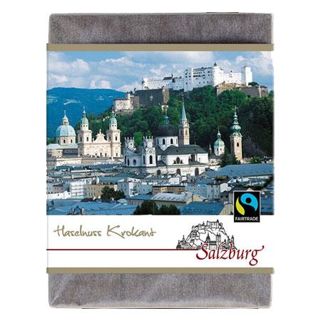 BioArt Schoko Salzburg Vollmilch Haselnusskrokant 70g, FairTrade