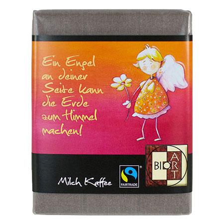 BioArt Schoko Engel Sweety Blume Milch Kaffee 70g, Fairtrade