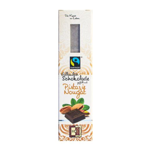 BioArt Vollmilchschokolade gefüllt mit Pistazie Nougat
