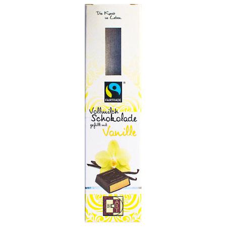BioArt Vollmilch Schokolade gefüllt mit Vanille