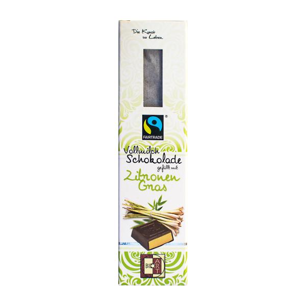 BioArt Vollmilchschokolade gefüllt mit Zitronengras