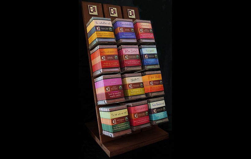 BioArt Holzdisplay für 12 Schokoladen