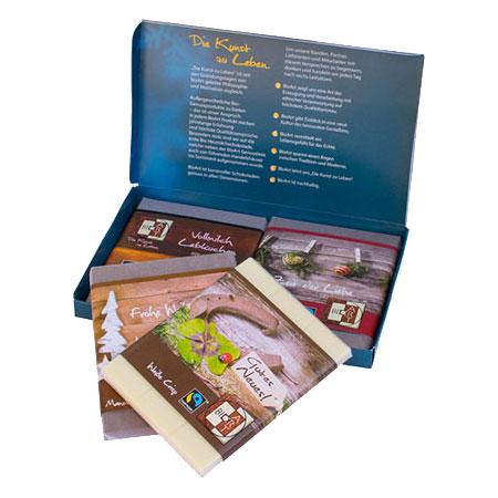BioArt Schokobox Weihnachten mit 4 Schokoladen