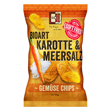BioArt Soft-Fried Karotten Chips 75g