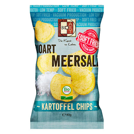 BioArt Soft-Fried Kartoffelchips Meersalz 40g