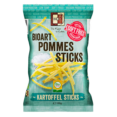 BioArt Soft-Fried Pommes Sticks mit Meersalz 100g