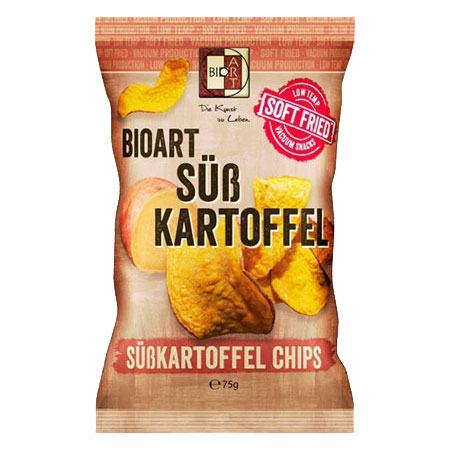BioArt Soft-Fried Süßkartoffelchips 75g