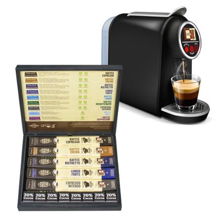 BioArt Kaffee Starterset in Holzbox + Kaffeemaschine