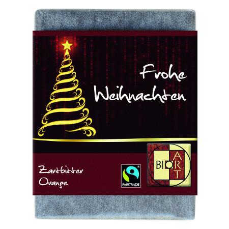 BioArt Schoko Baum Frohe Weihnachten Zartbitter Orange